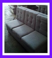БУ дивани для бару із сірої тканини.