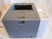 HP LaserJet P3005dn в рабочем состоянии,  с картриджем