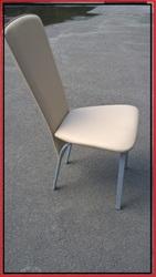 Стулья стул бежевый металлический бу с мягким сидением и спинкой для к