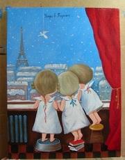Картина маслом Гапчинская Утро в Париже