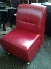 Кресла красные кожзам бу