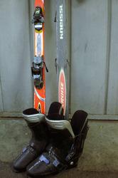 Ботинки с горными лыжами б/у
