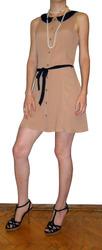 Платье бежевое