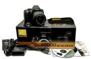 Фотоаппарат Nikon d3000 kit 18-55 mm vr