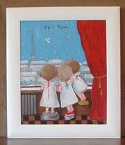 Картина маслом копия  Гапчинская Утро в Париже