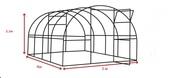 Каркас теплицы из поликарбоната 3х4х2.1 м.