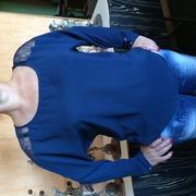 Синяя блуза ДЛЯ СОВРЕМЕННОЙ ДЕВУШКИ