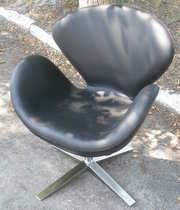 Кресло СВ(SWAN),  черный кожзам