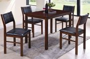 Комплект Лорри 1 стол 4 стула тёмнокоричневый цвет
