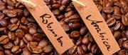 Арабика,  робуста средней обжарки. Свежеобжаренный кофе в зёрнах
