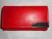 женский кожаный(натуральная кожа) красный кошелёк Возможен торг