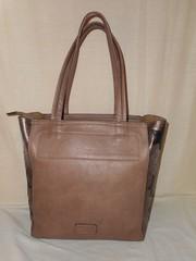 женская кожаная (pu) большая беживая сумка Возможен торг