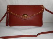 женский кожаный(натуральная кожа) рыжий сумка-клач.Возможен торг