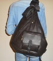 мужской женский кожаный натуральн.кожа большой коричневый рюкзак Возмо