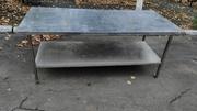 Продам металлические столы из нержавеющей стали бу