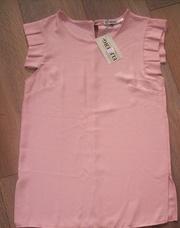 Легкая блузка креп шифон нежно розового цвета