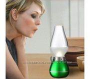 Лампа свеча с внутренним аккумулятором Ночник Волшебная керосинка   По
