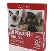 Дирофен для котят и щенков,  уп. 6 таб.