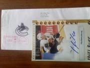 Автограф легенды НХЛ Павла Буре