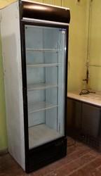 Бу холодильный шкаф со стеклянной дверью