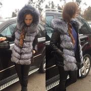Курточка с мехом чернобурки