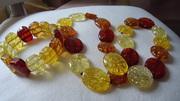 Продам ожерелье и браслет из натурального янтаря