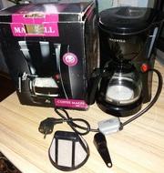 Капельная кофеварка MAXWELL MW-1651 BK 650W 600мл 4-5 чашек новая черная