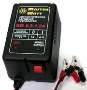 Зарядное 6/12В (V) для аккумулятора до эхолота,  детского электромобиля