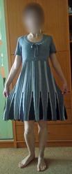 Продам Платье трикотажное с коротким рукавом б/у срочно