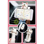 Монопод для селфи проводной автодержатель кот с хвостом Cat AUX Мультф