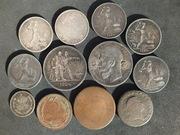 серебряные монеты  полтинник 1924 года,  рубль