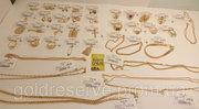 Золотые украшения б/у,  из ломбарда,  комиссионные золотые изделия.