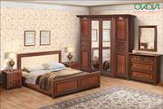 Спальный гарнитур Марго (кровать,  шкаф,  комод,  тумба,  зеркало)