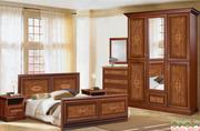 Спальный гарнитур Ванесса (кровать,  шкаф,  комод,  тумба,  зеркало)