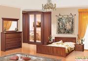 Спальный гарнитур Классик (кровать,  шкаф,  комод,  тумба,  зеркало)