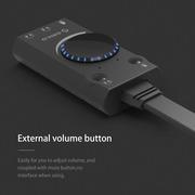 Внешняя звуковая USB карта ORICO SC1 - независимые разъемы.