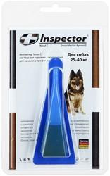Inspector  капли от внешних и внутренних паразитов для собак от 25 до