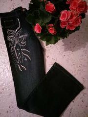 Джинсы женские с вышивкой,  XFN jeans
