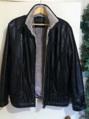 Куртка зимняя,  кож.зам с теплой подкладкой.Размер 48-50.