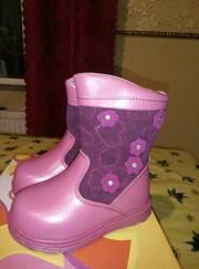 Сапоги ботинки размер 21-25 кожа на цигейке девочка и мальчик