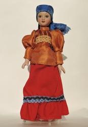 Фарфоровая  кукла костюм Тобольской губернии