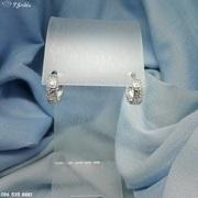 Круглые серебряные серьги с фианитами