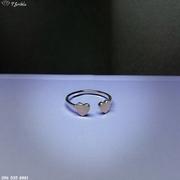 Серебряное кольцо на фалангу с сердечками