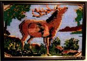 картина олень в лесу