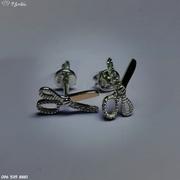 Серебряные серьги-пусеты Ножнички