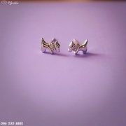 Серебряные серьги Собачки
