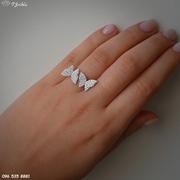 Серебряное кольцо Бабочки
