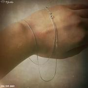 Серебряное цепочка Жгут
