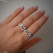 Серебряное колечко на два пальчика