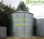 Резервуар на 100 кубов для жидкости,  емкость 100 м. куб.